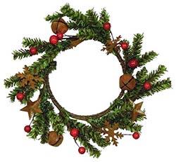Pine Twig & Rusty Tin Candle Ring