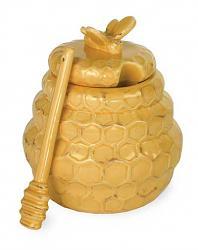 Honeycomb Honey Pot with Dipper