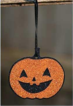 Glitter Jack o'Lantern Ornament