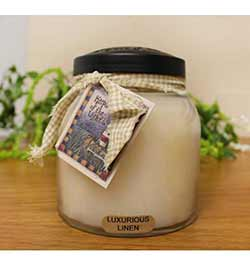 Luxurious Linen Keepers of the Light Jar Candle - Papa