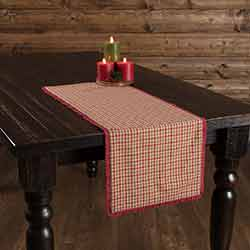 Jonathan Plaid Ruffled 36 inch Table Runner