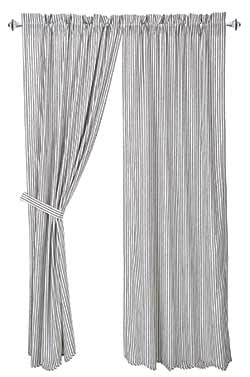 Josephine Black Curtain Panels (84 inch)