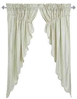 Josephine Sage Green Prairie Curtain