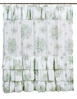 Josephine Sage Shower Curtain