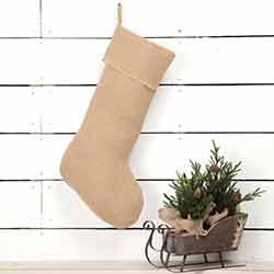 Jute Burlap Natural 20 inch Stocking