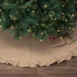 Jute Burlap Natural 55 inch Tree Skirt