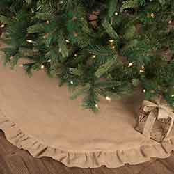Jute Burlap Natural 60 inch Tree Skirt