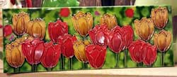 Tulips Art Tile - 6 x 16 inch