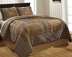 Karston Log Cabin Quilt Set