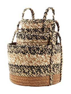 Kettle Grove Jute Baskets - Small (Set of 3)
