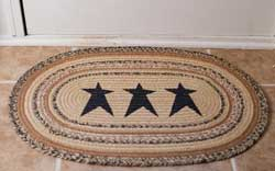 Kettle Grove Jute Rug with Stars - Oval (Multiple Size Options)