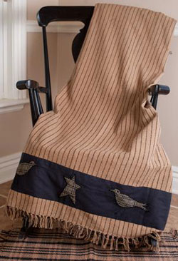 Kettle Grove Woven Throw - Applique