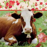 Boston International Rosy the Cow Paper Luncheon Napkin