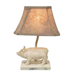 Pig Table Lamp with Shade