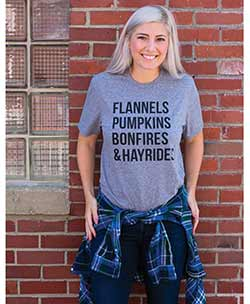 Flannels & Hayrides Tee Shirt