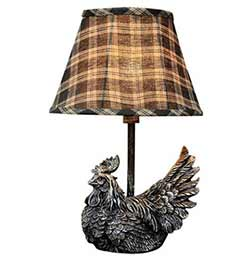 Rooster Accent Lamp with Shade