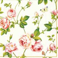 Boston International Rambling Rose Paper Luncheon Napkin