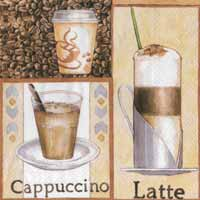 Boston International Latte Macchiato Paper Luncheon Napkin
