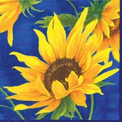 Sunshine Blue Paper Luncheon Napkin