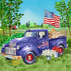Patriotic Truck Paper Luncheon Napkins