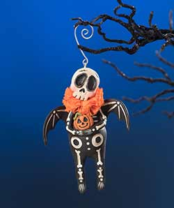 Skeleton Bat Ornament