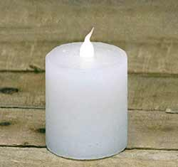 Slim White Battery Pillar Candle - 2.5 inch