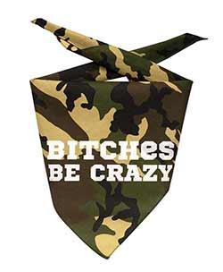 Be Crazy Dog Bandana