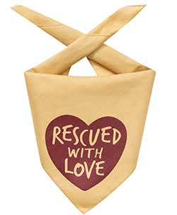 Rescued With Love Dog Bandana