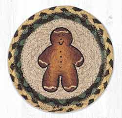 Gingerbread Man Round 7 inch Trivet