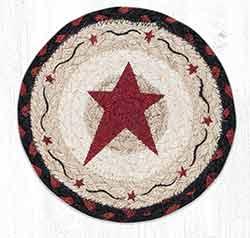 Primitive Star Burgundy Round 7 inch Trivet