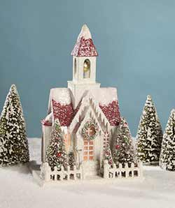 Vintage Putz Christmas Church