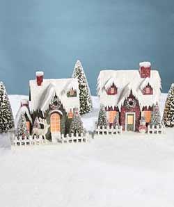 Vintage Putz Christmas Houses (Set of 2)