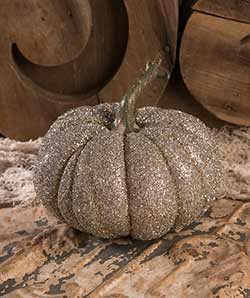 Glass Glittered Pumpkin - Large