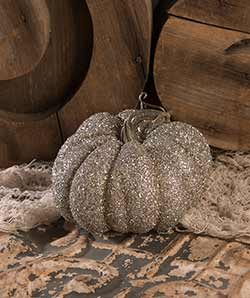 Glass Glittered Pumpkin - Small