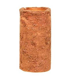 Orange Battery Pillar Candle - 6 x 3 inches