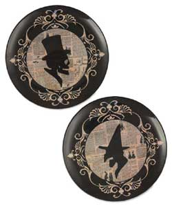Halloween Silhouette Melamine Plate