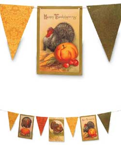 Thanksgiving Pennant Garland