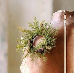 Moss Green Prickly Pine 2 inch Candle Ring