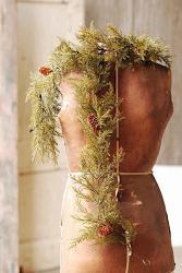 Prickly Pine 6 foot Garland - Moss Green