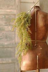Prickly Pine Hanging Bush - Moss Green