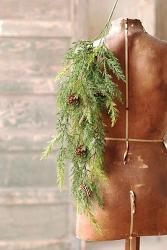 Prickly Pine Hanging Bush - Christmas Green