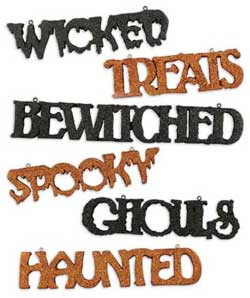Halloween Word Ornament