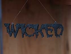 Halloween Word Ornament - Wicked