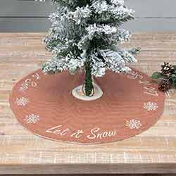 Let It Snow Mini 21 inch Tree Skirt