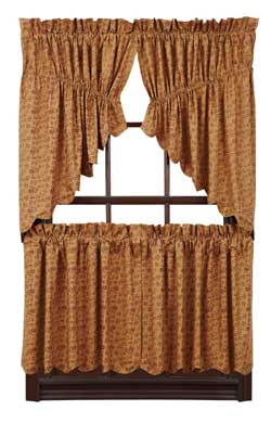 Lewiston Cafe Curtains - 24 inch Tiers