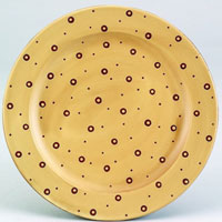 Linen Polka Dot Wood Plate