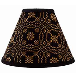 Lover's Knot Jacquard Lamp Shade - 10 inch