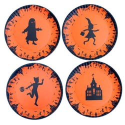 Melamine Halloween Plates (Set of 4)
