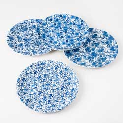 "Blue/White ""Paper"" Plate Set"
