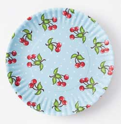 "Cherries ""Paper"" Plate Set"
